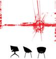 modern furniture background vector image vector image