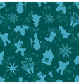 Template Christmas pattern vector image vector image