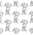 Seamless pattern with hares vector image