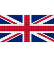 The mosaic flag of United Kingdom vector image