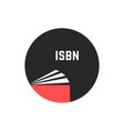 book with isbn in circle vector image