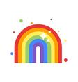 flat style of rainbow vector image