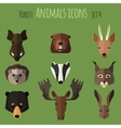Forest animals flat icons Set 2 vector image