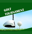 poster design for golf tournament vector image