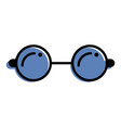 round glasses accessory fashion hipster icon vector image