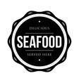 Seafood vintage stamp vector image