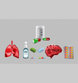 digital red medicine lungs vector image