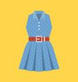 retro polka dot woman dress vector image