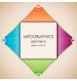 Infographics diamond vector image vector image
