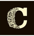 Elegant capital letter C in the style Baroque vector image