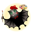 cute bat artist vector image vector image