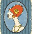 vintage woman portrait vector image vector image