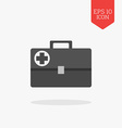 Medical briefcase first aid kit icon Flat design vector image