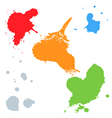 Set of colorful blots vector image