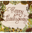 Happy Thanksgiving card on wooden background vector image