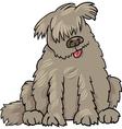 newfoundland dog cartoon vector image vector image