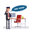 Businessman or manager offers free position Chief vector image