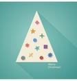 Geometric Christmas Tree vector image vector image