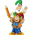 Gnome on shoulders vector image vector image