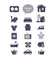Household icons set vector image vector image