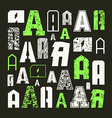 Set versions of letters A vector image