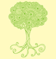 tree doodles vector image