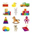 Kids toys set vector image vector image