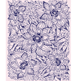 hand-drawn floral pattern vector image