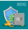 Bank deposit flat style Save vector image