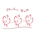 chicken walking vector image