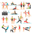 dance training decorative icons set vector image