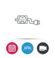 Electric counter icon Electricity with plug vector image