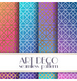 ethnic floral seamless pattern colors vector image
