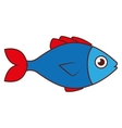 fish sea wildlife food icon isolated vector image