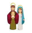 Mary joseph and jesus of holy night design vector image