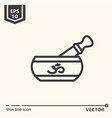 One icon - singing bowl vector image