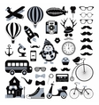 Retro Vintage Hipster Icon Set vector image