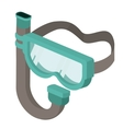 snorkel mask isolated icon design vector image