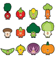 Stickers vegetables vector image