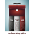 Business infographics icon isolated on blue vector image