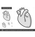 Human heart line icon vector image