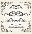 set of swirl elements and corners for vector image
