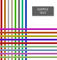 Colorful Shiny Rods Background vector image