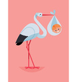 Baby in a Stork vector image