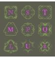Monogram logo template vector image