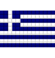 The mosaic flag of Greece vector image