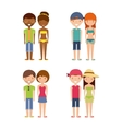 Young people on summer vacation design vector image