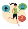 woman sports training lifestyle vector image