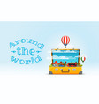 travel bag vacation design concept vector image