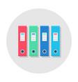 office folder flat icon vector image